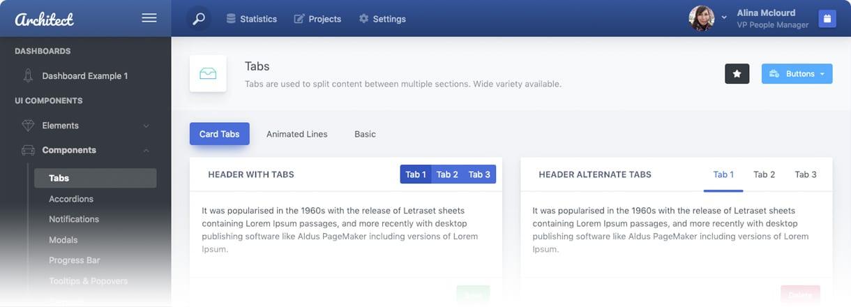 ArchitectUI HTML Dashboard Free