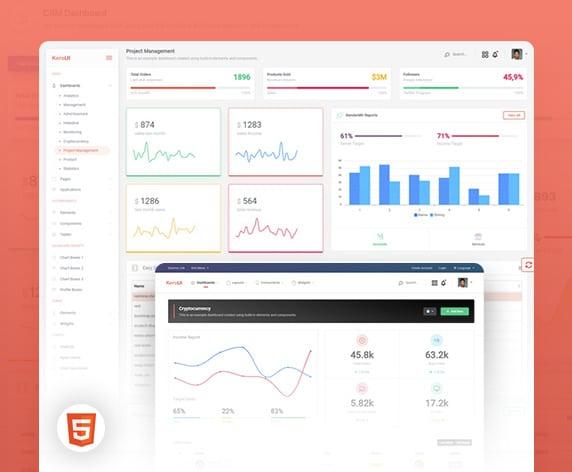 Kero jQuery/HTML Dashboard PRO