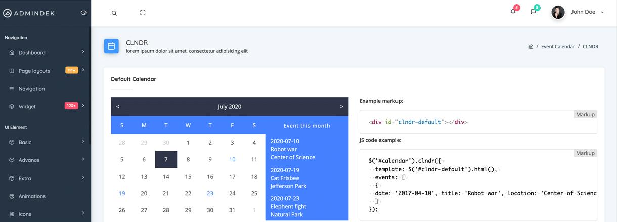 Admindek HTML Dashboard